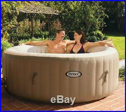 Intex Pure Spa 4-Person Inflatable Portable Hot Tub Ultimate Bundle Spa Package
