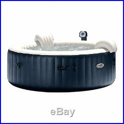 Intex Pure Spa 6 Person Inflatable Outdoor Bubble Jets Hot Tub 28409E (2 Pack)