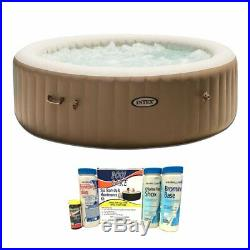 Intex Pure Spa 6-Person Inflatable Portable Bubble Jet Hot Tub Chemical Kit