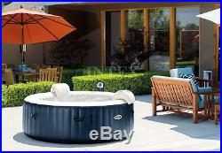 Intex Pure Spa 6 Person Inflatable Portable Bubble Jets Hot Tub & Accessory Kit