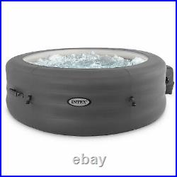 Intex SimpleSpa 4 Person Inflatable Portable Hot Tub with Pump & Cover (Damaged)