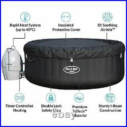 Lay-Z-Spa Miami AirJet 2-4 Person Inflatable Hot Tub, 2021 Latest