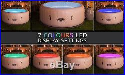Lay-Z-Spa Paris Inflatable Hot Tub with LED lighting. 4-6 Person