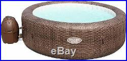 Lay-Z-Spa St Moritz Lazy Hot Tub 7 Person Inflatable Rattan Design Heating