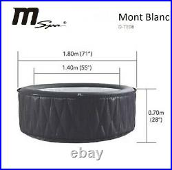 M-Spa Mont Blanc Inflatable Hot Tub Spa 4 Person, P-M8049, With Cover 118 JETS