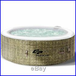 Modern Durable 6 Person Inflatable Hot Tub Outdoor Massage Spa-Coffee