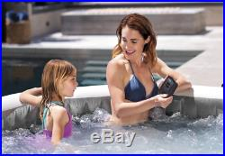 New Inflatable 4-5 Person Round Jacuzzi Hot Tub With Massage Jets And Headrests