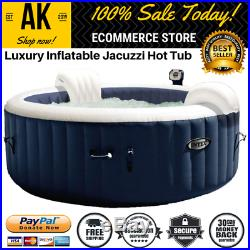 New Jacuzzi Inflatable Hot Tub For 5 Person Relax Bubble Massage Set Blue/White