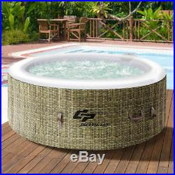 New Portable Inflatable 4 Person Hot Tub Outdoor Jacuzzi Jets Bubble Massage Spa