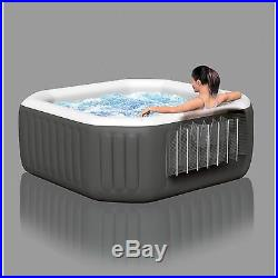 Portable Hot Tub 4 Person Inflatable Spa & Cover 120 Jets Bubble Pool Sauna Lawn