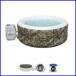 Portable Inflatable Hot Tub Spa 4-Person Jacuzzi Outdoor Pool Pump Cover