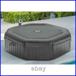 Portable Octagonal 140 Bubble Jets Inflatable Hot Tub Spa 6-Person
