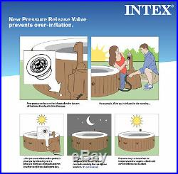 Small Inflatable Pool Jacuzzi Outdoor Hot Tub 4 Person Patio Backyard Above NEW